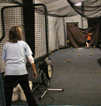 Triple Crown Valparaiso Baseball and Softball Training Center offers rental of indoor batting cages and pitching lanes to aid in baseball team practice, softball team practice, baseball training and softball training